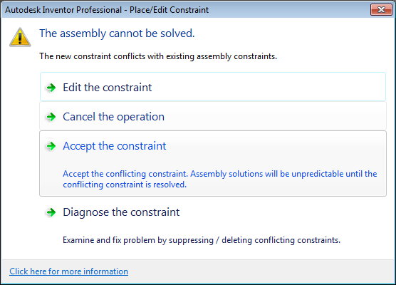 Editing Existing Assembly Constraints in Inventor Part 2