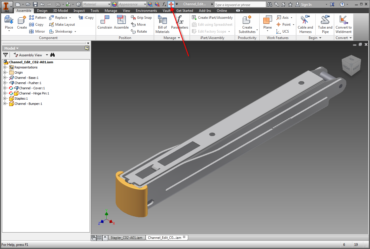 Editing Existing Assembly Constraints in Inventor Part 1