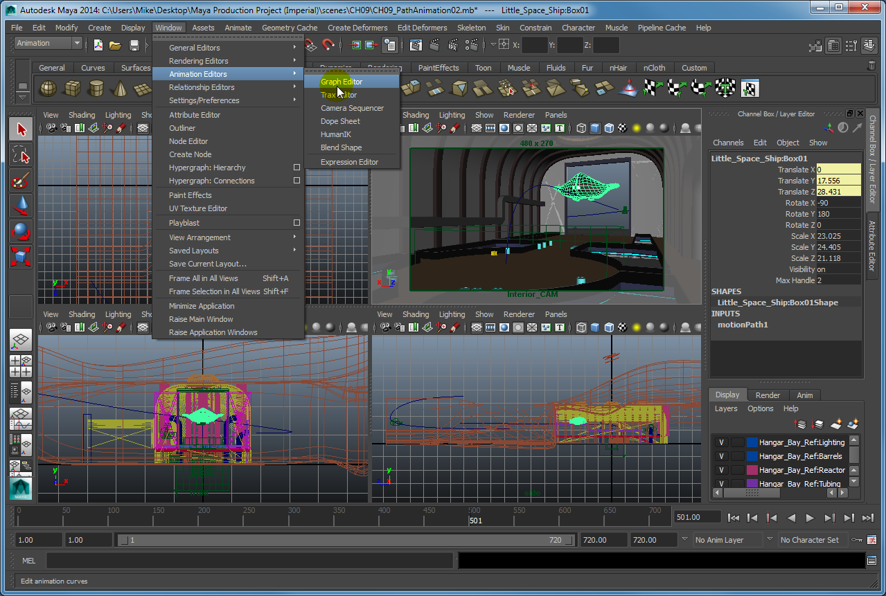 Using the Graph Editor in Maya