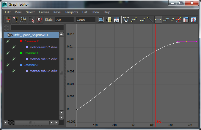 Using Keyframes in Graph Editor in Maya
